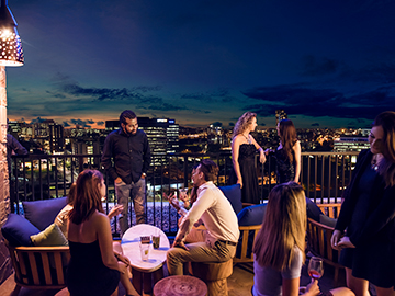 Eleven roofttop bar