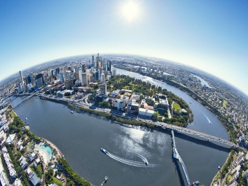 Brisbane fisheye view