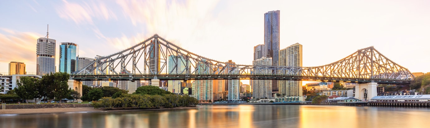 Brisbane's Story Bridge at Sunset