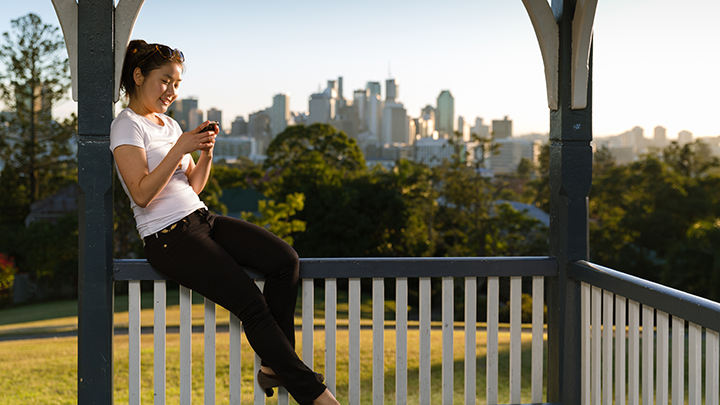 International Student calling home from Brisbane