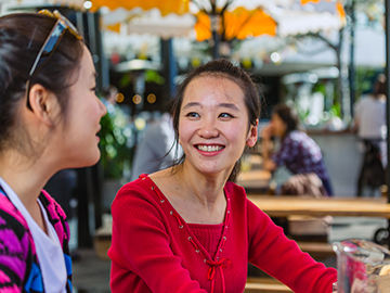 International Students chatting in Brisbane