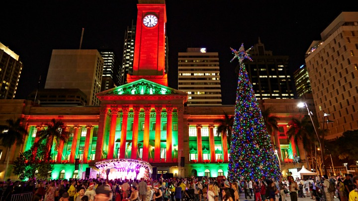 Lighting of the Brisbane City Christmas Tree
