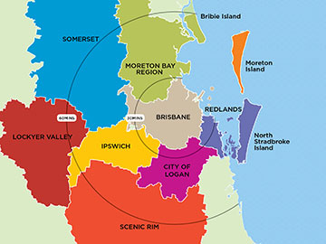 Greater Brisbane map